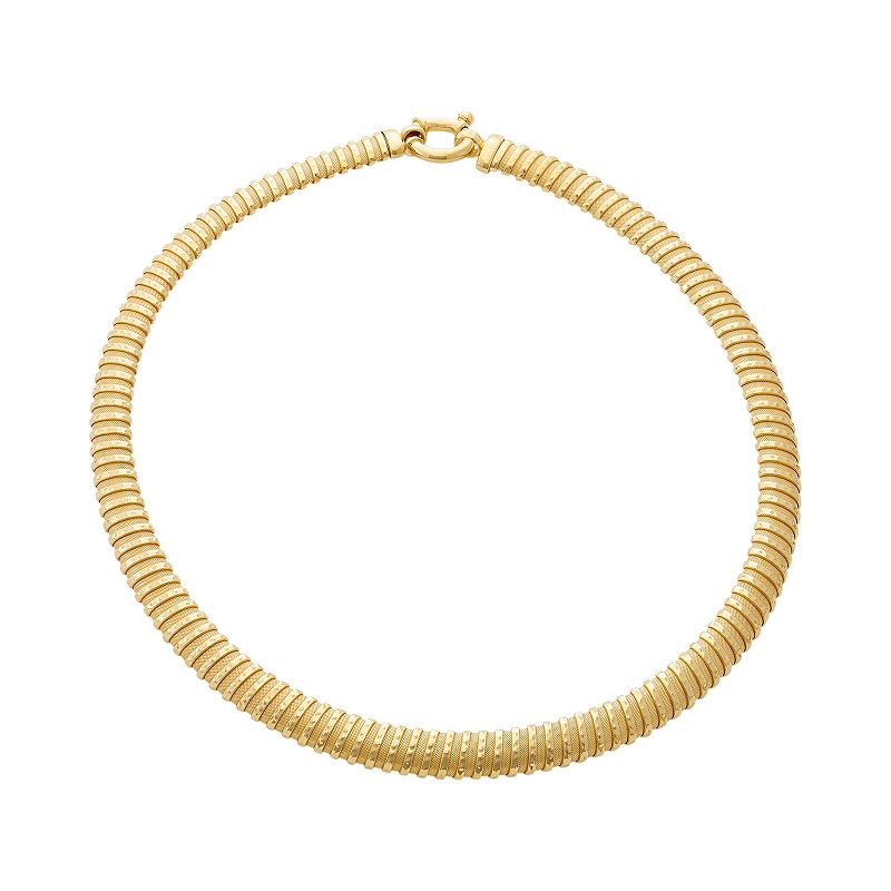 14k Gold Over Silver Mesh Coil Necklace