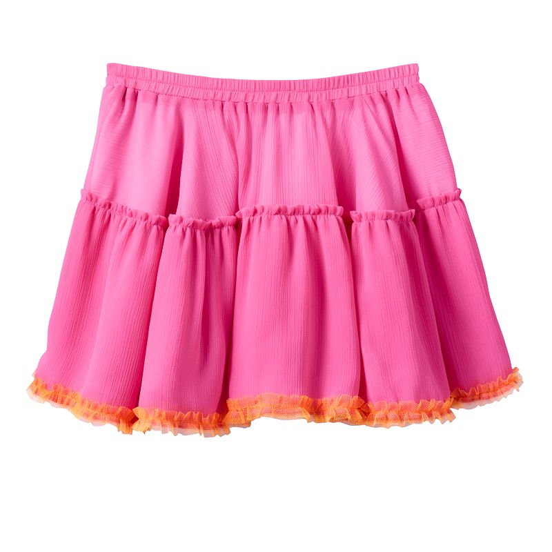 Design 365 Solid Ruffle Skirt - Girls 4-6x