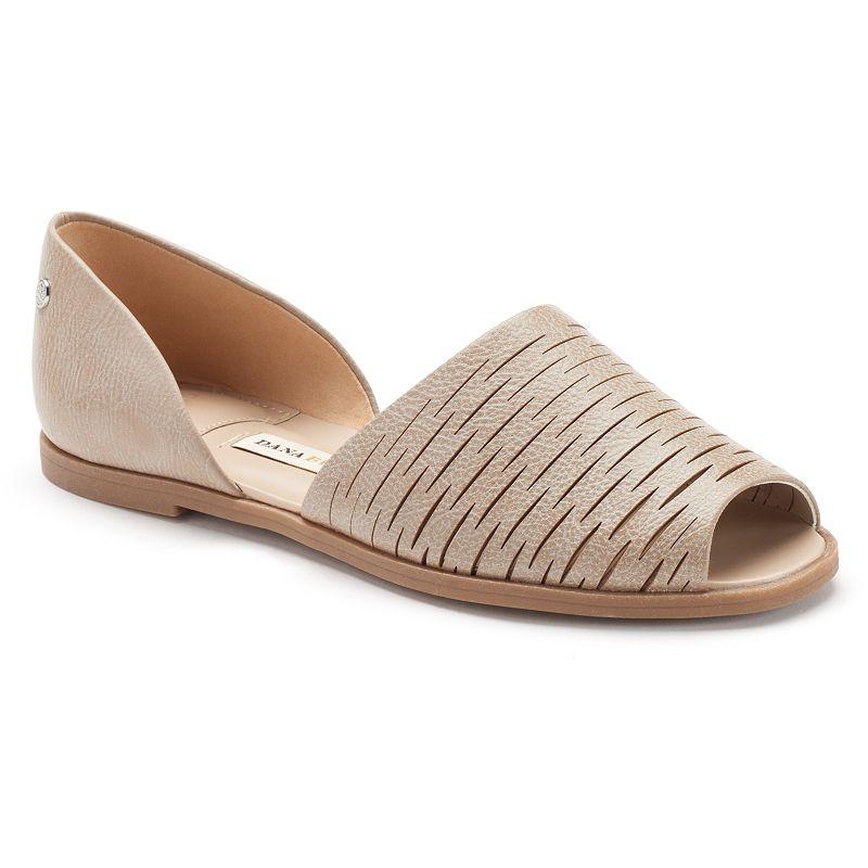 Dana Buchman Women's Two-Piece Peep-Toe Flats