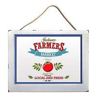 Natural Home Farmer's Market Window Wall Decor