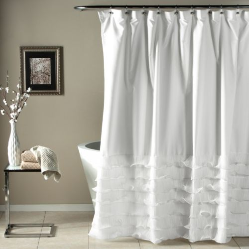 Lush Decor Avery Fabric Shower Curtain