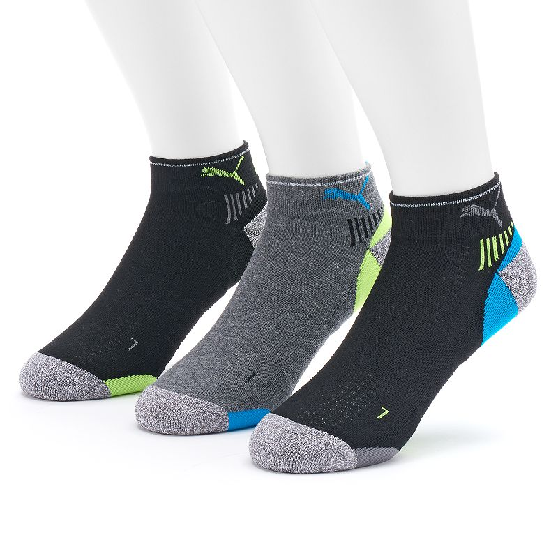 Men's PUMA 3-Pack Impact Performance Quarter-Crew Socks