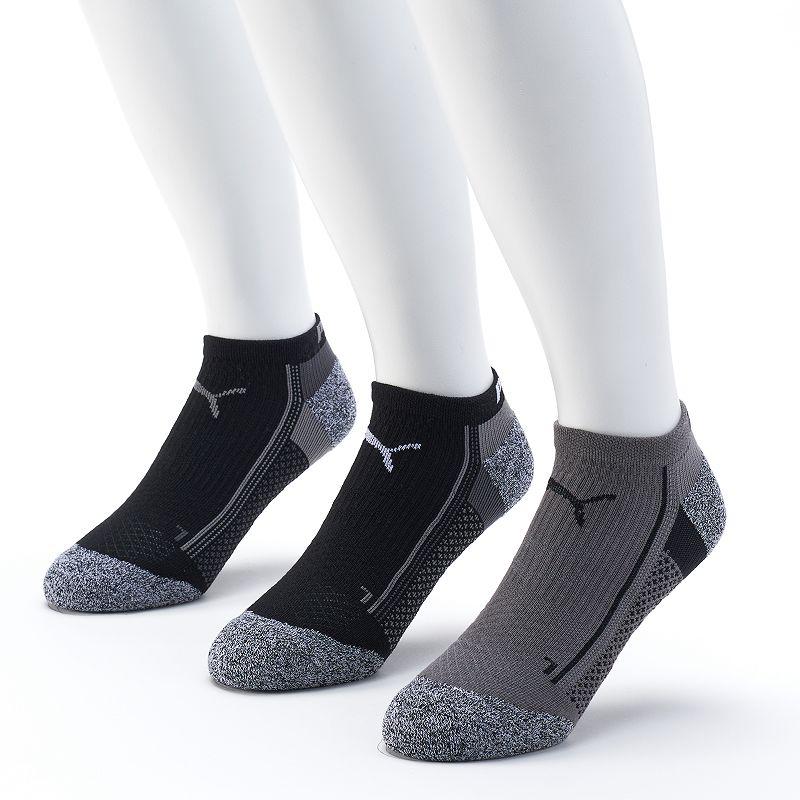 Men's PUMA 3-Pack Impact Performance Low-Cut Socks