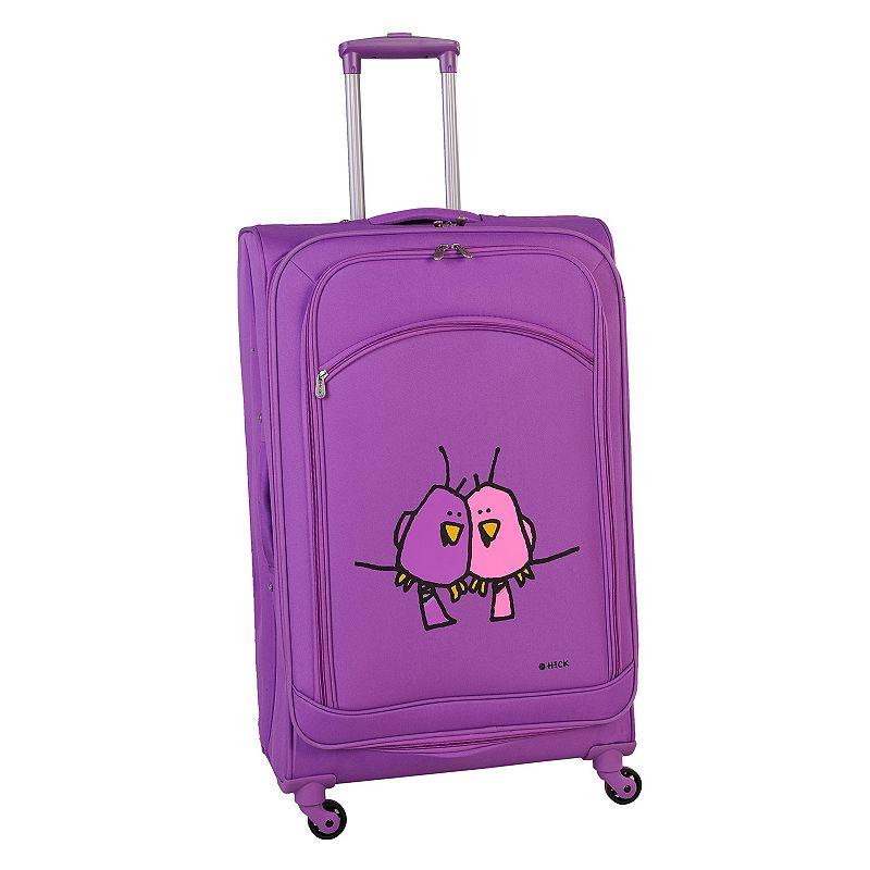 Ed Heck Big Love Birds 28-Inch Spinner Luggage