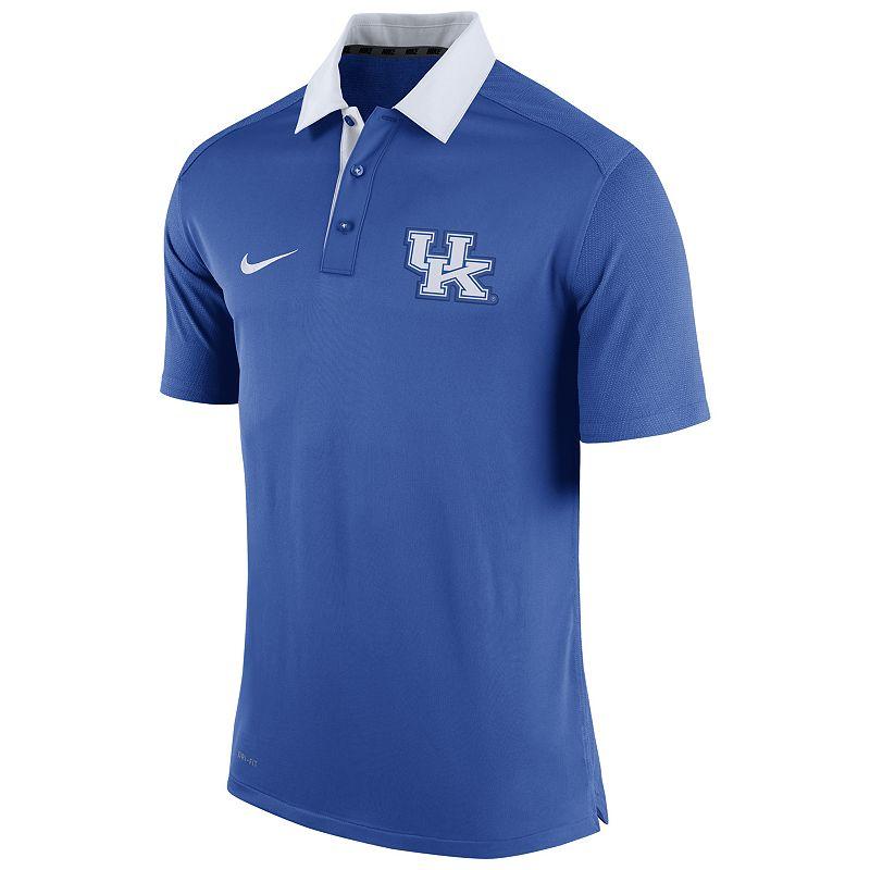 Men's Nike Kentucky Wildcats Elite Coaches Dri-FIT Performance Polo