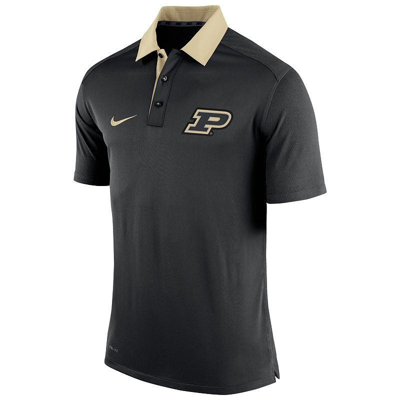 Men's Nike Purdue Boilermakers Elite Coaches Dri-FIT Performance Polo