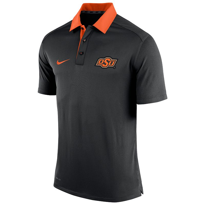 Men's Nike Oklahoma State Cowboys Elite Coaches Dri-FIT Performance Polo