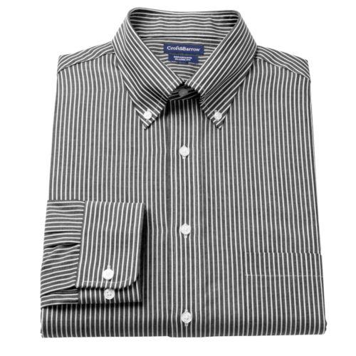 Men's Croft & Barrow® Classic-Fit Ralphy Striped Button-Down Collar Dress Shirt - Men