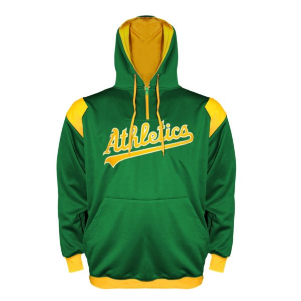 Big & Tall Oakland Athletics Quarter-Zip Hoodie