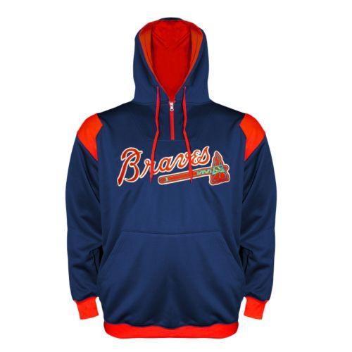 Men's Atlanta Braves Quarter-Zip Hoodie - Big & Tall
