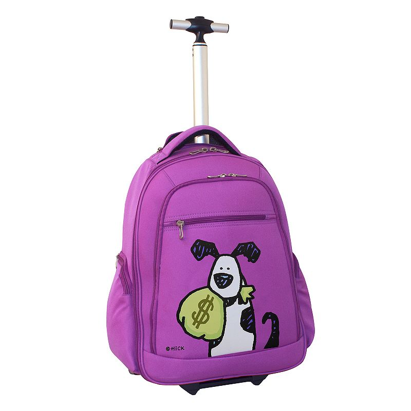 Ed Heck Money Doggie Wheeled 15-in. Laptop Backpack