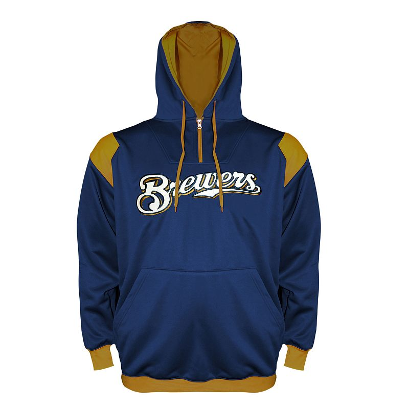 Big & Tall Milwaukee Brewers Quarter-Zip Hoodie