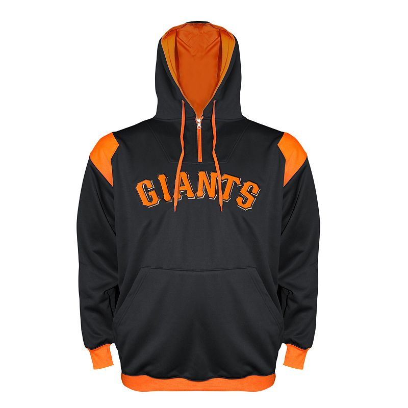 Big & Tall New York Giants Quarter-Zip Hoodie