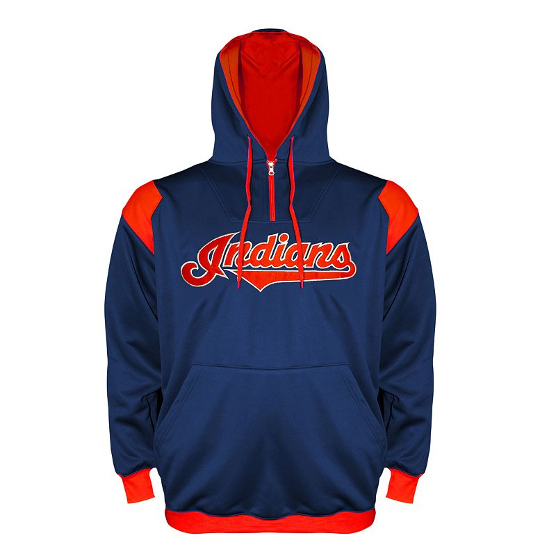 Big & Tall Cleveland Indians Quarter-Zip Hoodie
