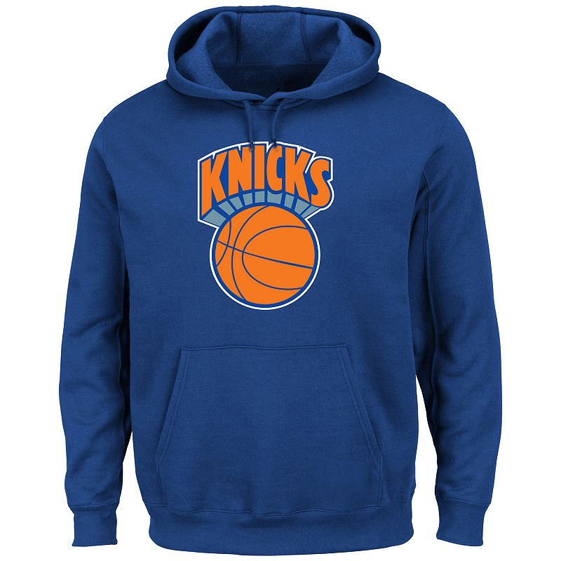 Majestic New York Knicks Hardwood Classics Tek Patch Hoodie - Men