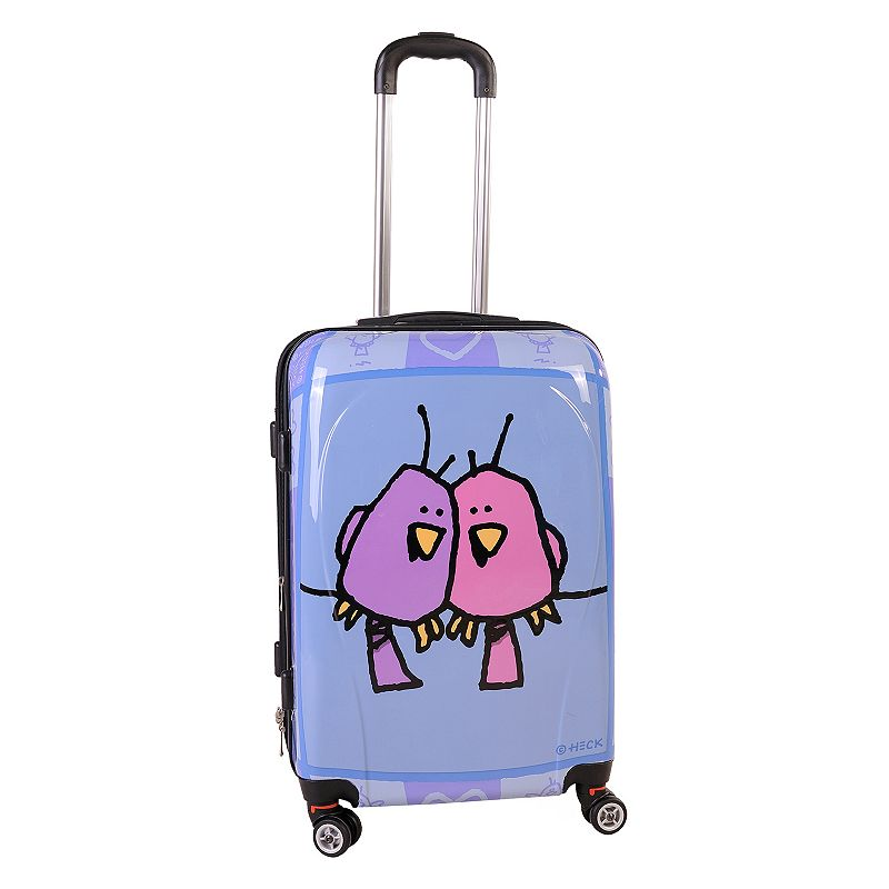 Ed Heck Big Love Birds 24-Inch Hardside Spinner Luggage