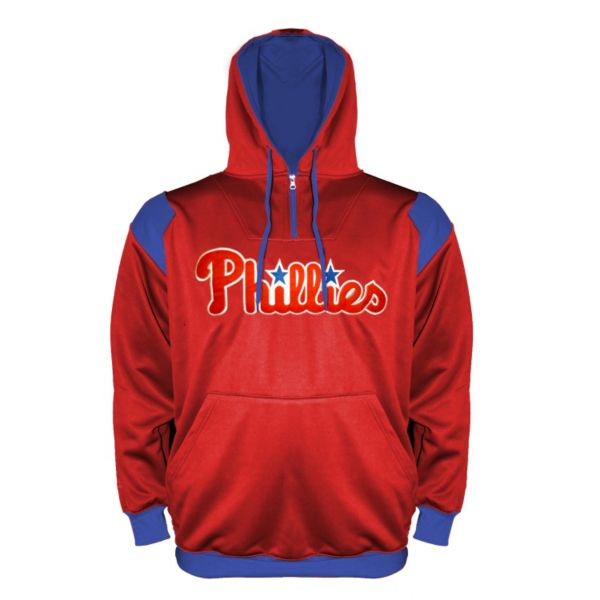 Big & Tall Philadelphia Phillies Quarter-Zip Hoodie