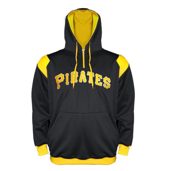 Big & Tall Pittsburgh Pirates Quarter-Zip Hoodie