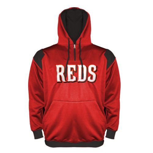 Big & Tall Cincinnati Reds Quarter-Zip Hoodie