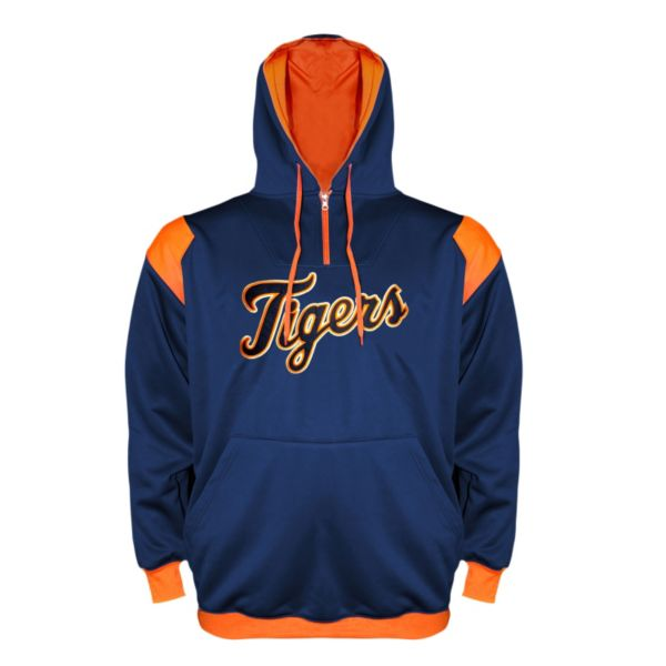 Big & Tall Detroit Tigers Quarter-Zip Hoodie