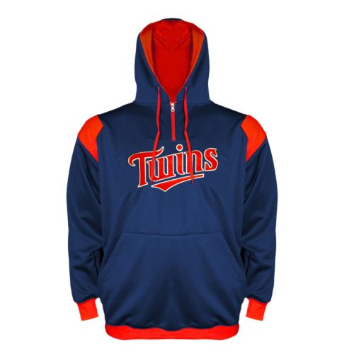 Big & Tall Minnesota Twins Quarter-Zip Hoodie