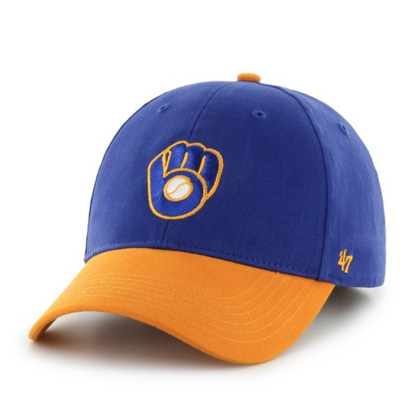 Youth '47 Brand Milwaukee Brewers Short Stack Adjustable Cap