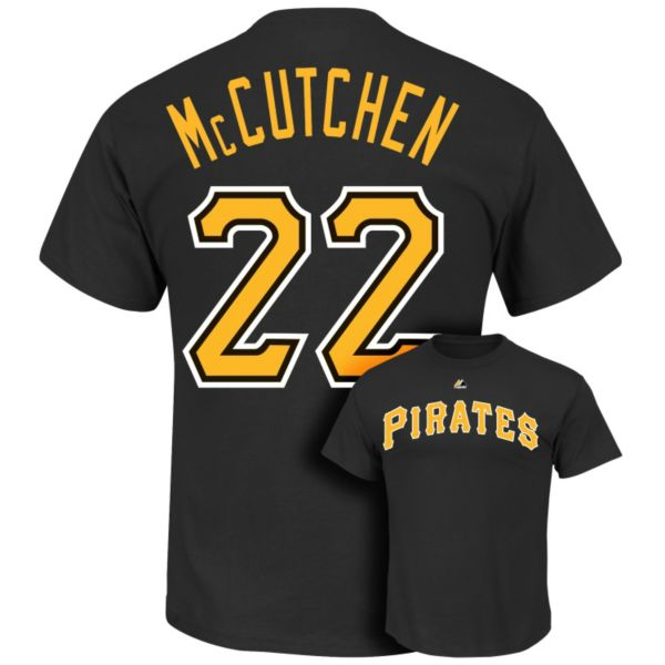 Big & Tall Majestic Pittsburgh Pirates Andrew McCutchen Player Name and Number Tee