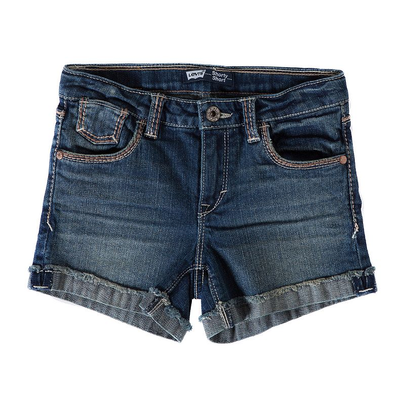 Levi's Mission Thick Stitch Denim Shorts - Girls 7-16