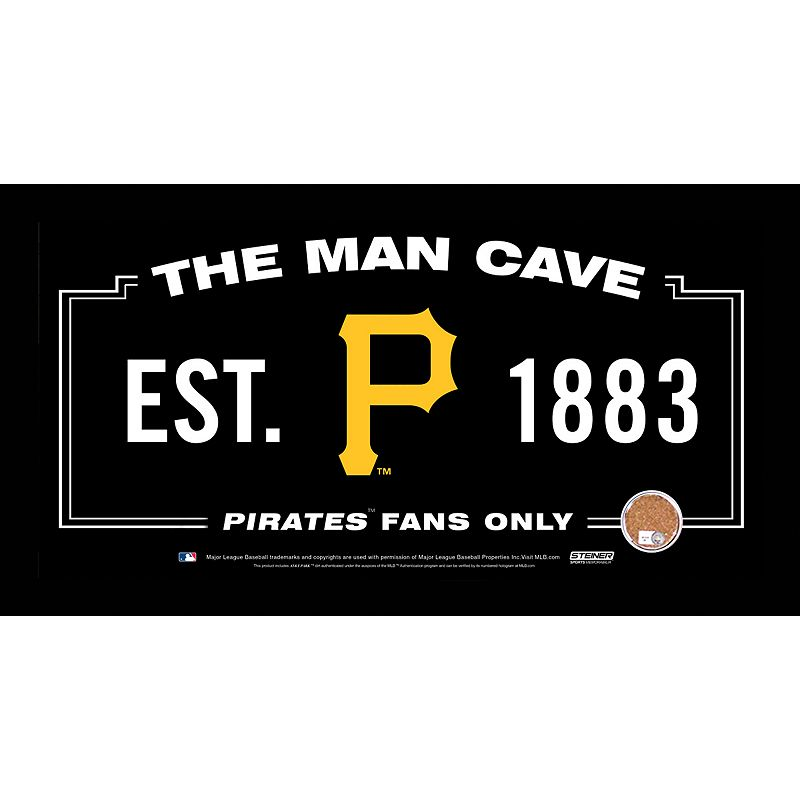 Steiner Sports Pittsburgh Pirates Man Cave Sign with Authentic Field Dirt