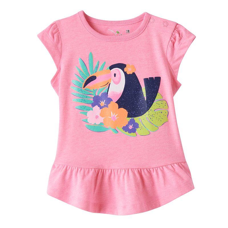 Baby Girl Jumping Beans® Tropical Peplum Tee