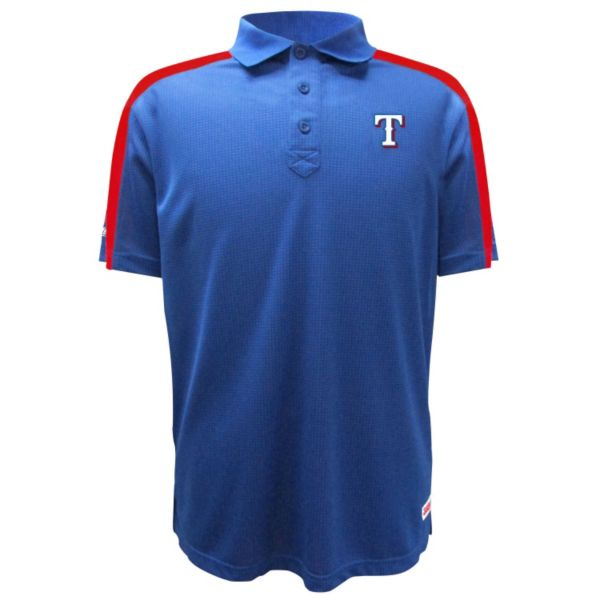 Men's Stitches Texas Rangers Waffle Polo