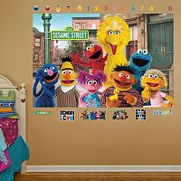 Sesame Street Group Mural Wall Decals by Fathead