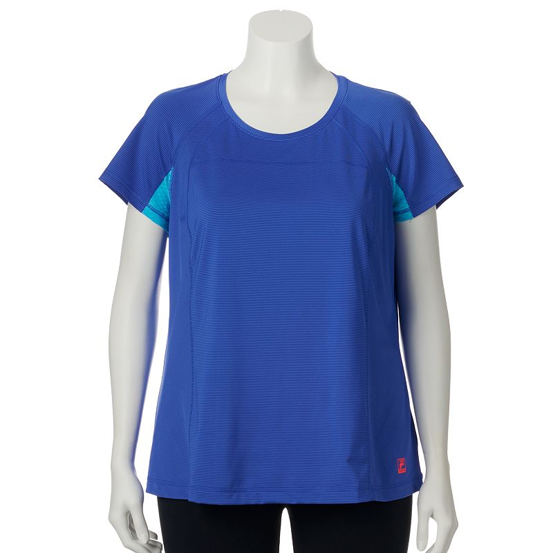 Plus Size Plus Size FILA Sport Shadow Workout Tee, Blue
