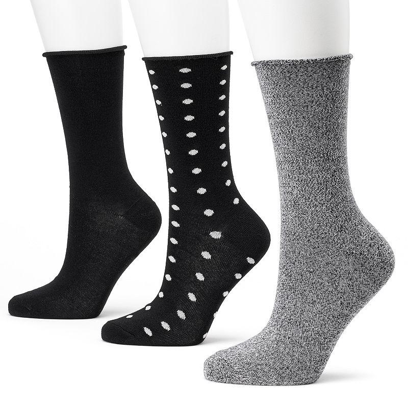 SONOMA life + style® 3-pk. Crew Socks - Women