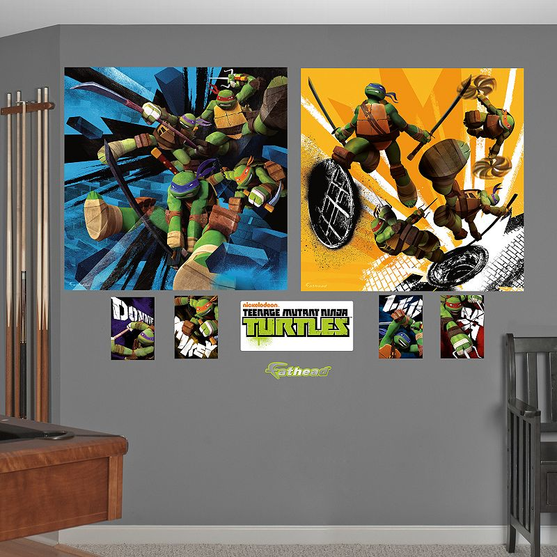 Teenage Mutant Ninja Turtles Dual Action Mural Wall Decals by Fathead