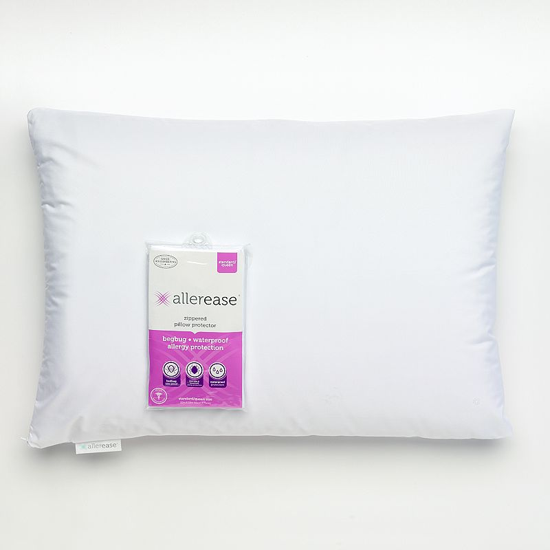 Allerease Waterproof Bedbug and Allergy Protection Pillow Protector - Standard / Queen