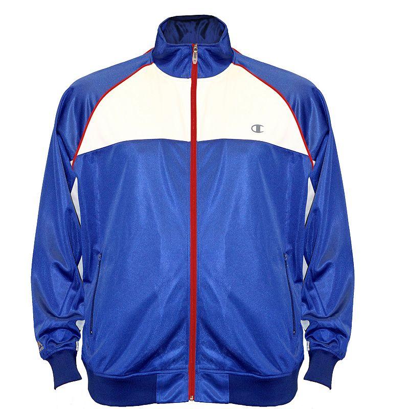 Big & Tall Champion Colorblock Tricot Track Jacket