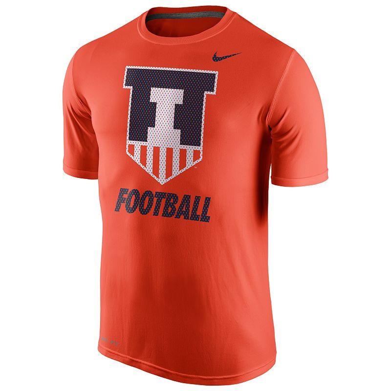 Men's Nike Illinois Fighting Illini Football Legend Dri-FIT Performance Tee