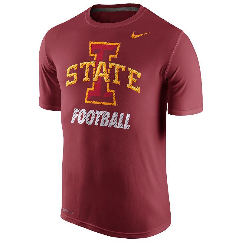 Men's Nike Iowa State Cyclones Football Legend Dri-FIT Performance Tee