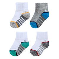 Baby Boy / Toddler Boy Jumping Beans® 4-pk. Quarter Socks