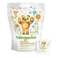 Babyganics 75-pk. Alcohol-Free Individual Mandarin Hand Sanitizer Wipes