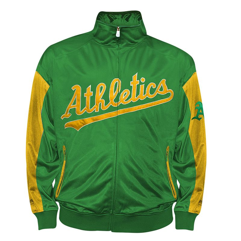 Big & Tall Oakland Athletics Green Tricot Track Jacket
