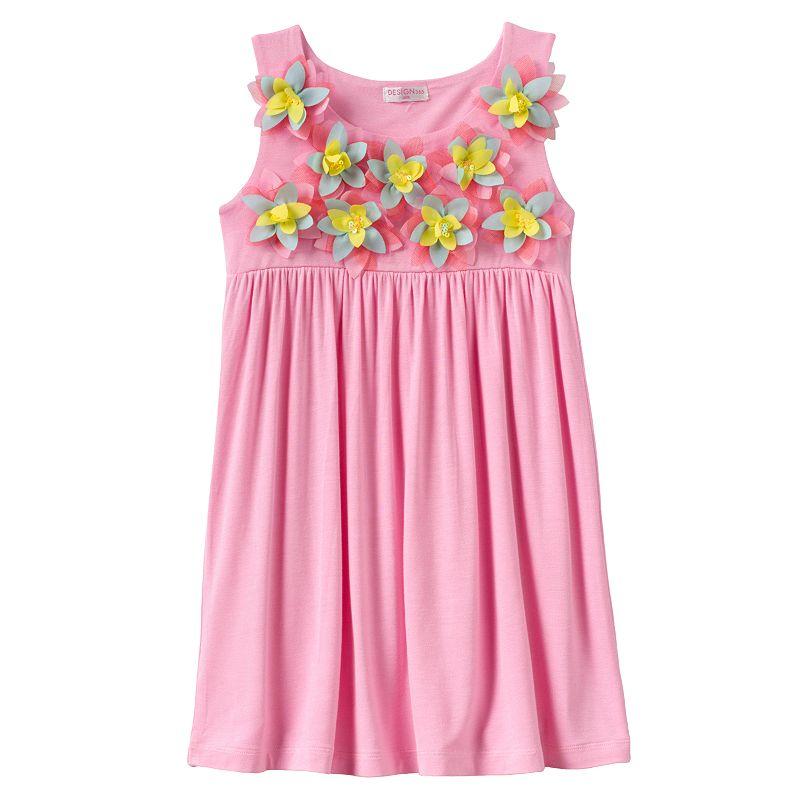 Design 365 Floral Rosette Dress - Toddler Girl