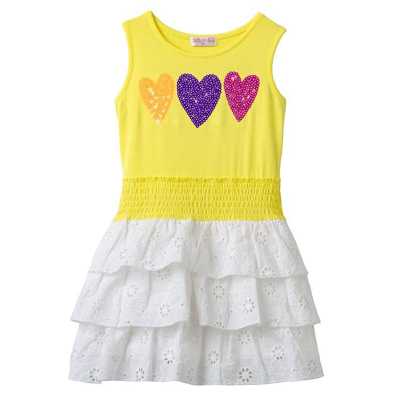 Design 365 Sequin Heart Dress - Toddler Girl
