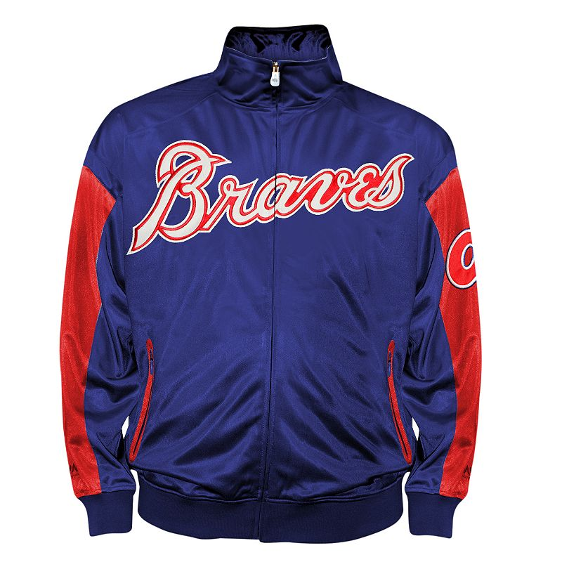 Big & Tall Atlanta Braves Blue Tricot Track Jacket