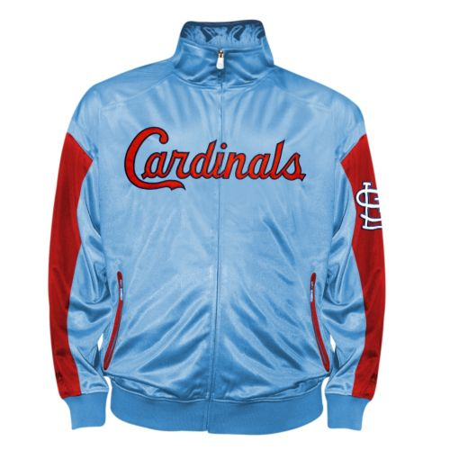 Big & Tall St. Louis Cardinals Blue Tricot Track Jacket