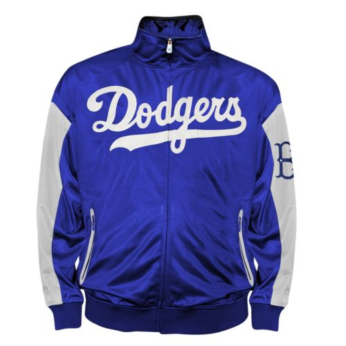 Big & Tall Brooklyn Dodgers Blue Tricot Track Jacket