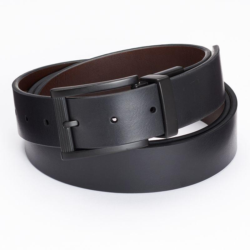 Big & Tall Apt. 9® Matte Reversible Cut-Edge Belt