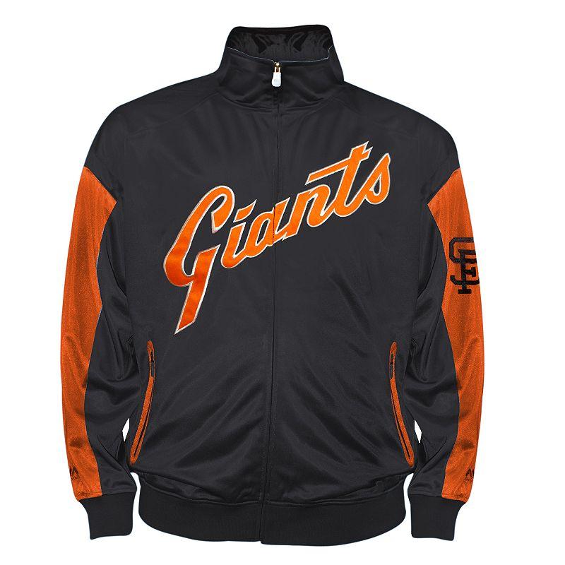 Big & Tall San Francisco Giants Retro Logo Tricot Track Jacket