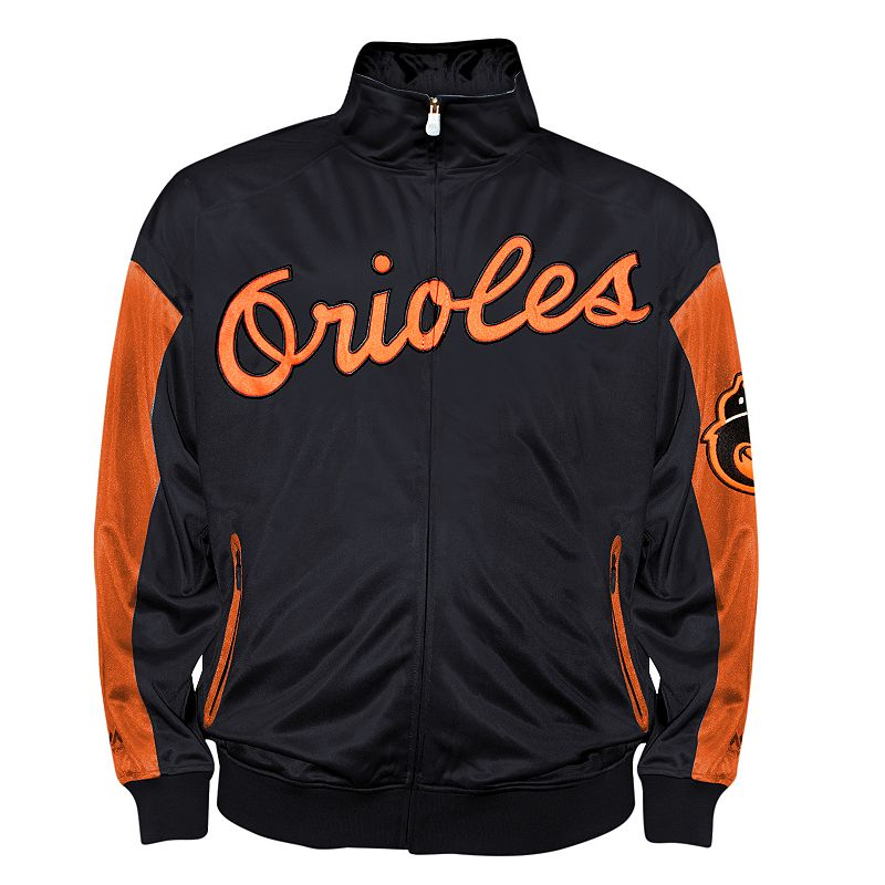 Big & Tall Baltimore Orioles Black Tricot Track Jacket